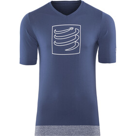 Compressport Training Hardloopshirt korte mouwen, blue
